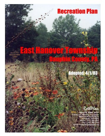 Recreation Plan - East Hanover Township