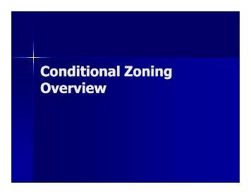 Conditional Zoning Overview - City of Hickory