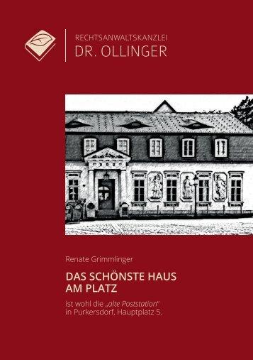 """Broschüre """"Das schönste Haus am Platz"""""""
