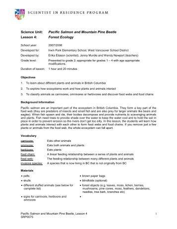 Lesson 4 - Scientist in Residence Program