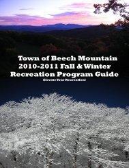 Link to Beech Mountain Parks & Recreation Fall & Winter Program ...