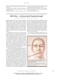Bell's Palsy — Is Glucocorticoid Treatment Enough?
