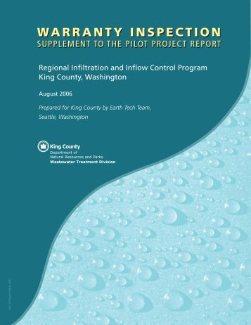 Site Improvement Bond Quantity Worksheet - King County