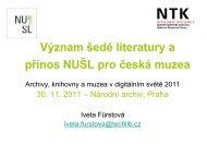 Mgr. Iveta Fürstová, Národní technická knihovna (.pdf - SKIP