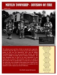 Newsletter March 2011 - Mifflin Township