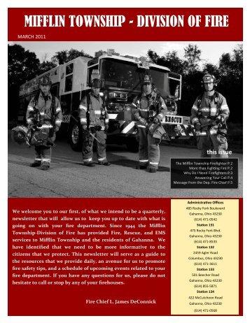 Newsletter March 2011 - Mifflin Township
