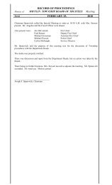 RECORD OF PROCEEDINGS - Mifflin Township