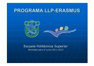 PROGRAMA LLP-ERASMUS - Universidad de Córdoba