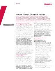 McAfee Firewall Enterprise Profiler