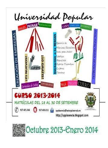 cuadernillo de cursos 2013-14 - Aupex