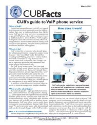 The Facts on VoIP - Citizens Utility Board