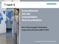 Innovationen bei der industriellen Kommunikation - Siemens