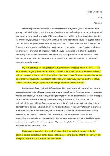 an essay on patriotism co an essay on patriotism
