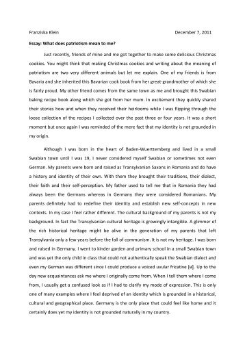 a corrupted nationalist identity essay Dr adela najarro english 100: elements of writing identity essay guidelines discovery of who you are is one of the joys of writing and learning.