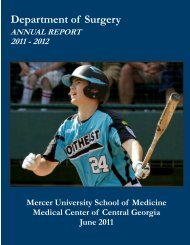 2011-2012 Annual - MCCG General Surgery Residency