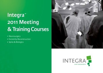 Integra™ 2011 Meeting & Training Courses - Medical Service, SA
