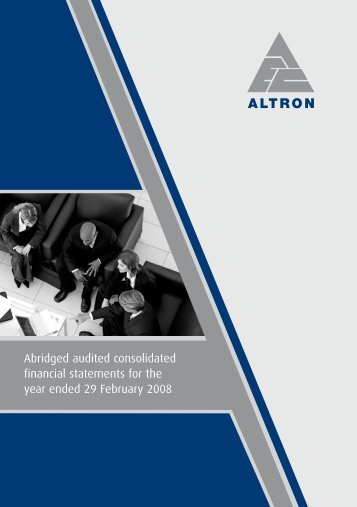 Download PDF of results - Altron