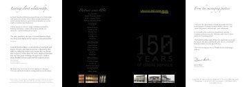 Partners since 1856 - Garland Hawthorn Brahe