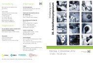 Einladung zum 30. Anästhesiesymposium - Institut für ...