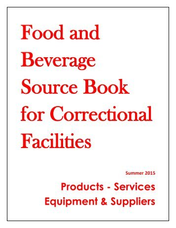 Food and Beverage Source Book for Correctional Facilities