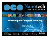 Workshop on Compact Modeling p p g p p g - TechConnect World