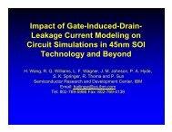 I t fG t I d dD i Impact of Gate-Induced-Drain - Techconnectworld.com