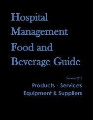 Hospital Management Food and Beverage Guide