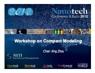 Workshop on Compact Modeling - TechConnect World