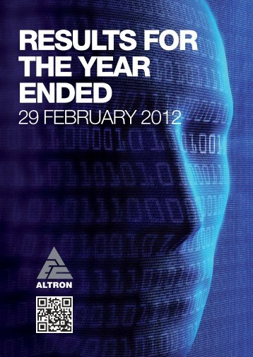 RESULTS FOR THE YEAR ENDED - Altron