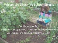Wisconsin Public Health Council Wisconsin's Farm to School Efforts