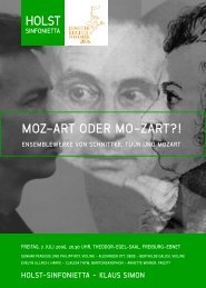 MOZ-ART ODER MO-ZART?! HOLST - Holst-Sinfonietta