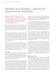 Markets and strategy – seizing the opportunities of growth.