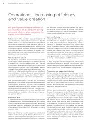 Operations – increasing efficiency and value creation.