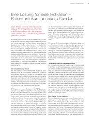 Eine Lösung für jede Indikation - Nobel Biocare Annual Report 2010