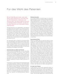 Für das Wohl des Patienten. - Nobel Biocare Annual Report 2010