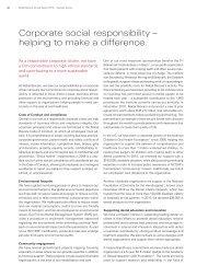 Corporate social responsibility - Nobel Biocare Annual Report 2010