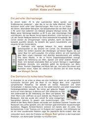 Tasting Australia! Vielfalt, Klasse und Finesse - Pacific Wine Company