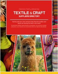 Textile & Craft Section from ExporPerú Peruvian Suppliers Directory 2015