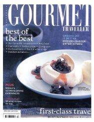 Gourmet Traveller - KG-NY
