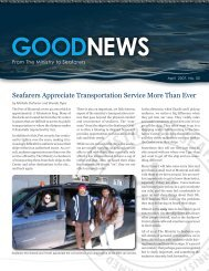 Seafarers Appreciate Transportation Service More Than Ever