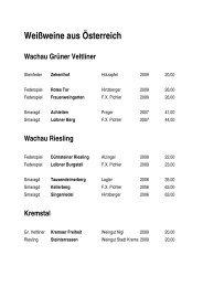 Weißweine aus Österreich Wachau Grüner Veltliner - gasthof klinger