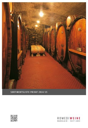 SortimentSliSte Privat 2012/13 - Romedi Weine SA