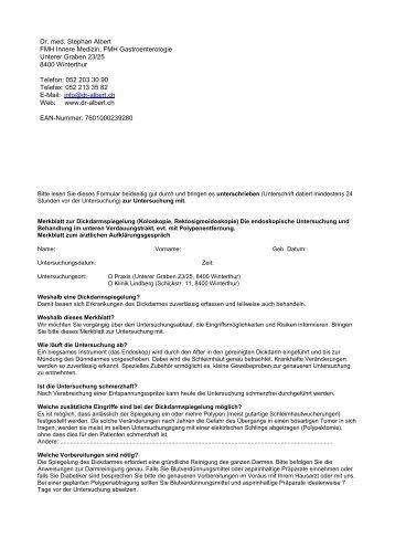 Dr. med. Stephan Albert FMH Innere Medizin, FMH ... - dr-albert.ch