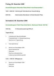 Freitag, 08. Dezember 2006 Sonnabend, 09. Dezember 2006