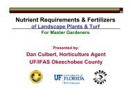 Soils, Nutrients and Fertilizers - University of Florida