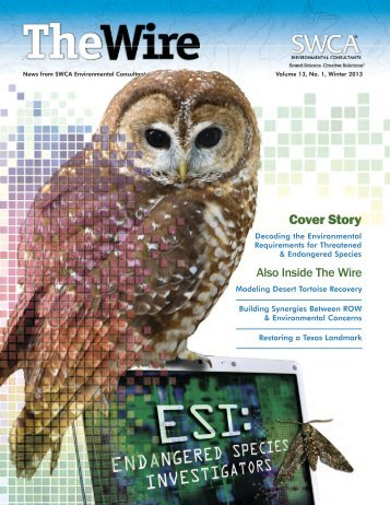 Winter 2013 edition of The Wire - SWCA - Environmental Consultants