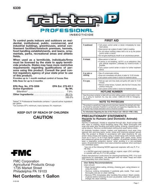 Talstar P Professional - FMC Professional Solutions