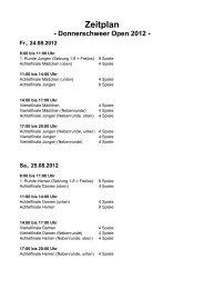 Zeitplan - Donnerschweer Open 2012