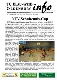NTV-Schultennis-Cup - Tennisclub Blau-Weiß Oldenburg