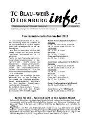 Vereinsmeisterschaften im Juli 2012 - Tennisclub Blau-Weiß ...